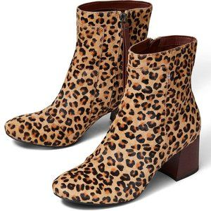 EMMY LEOPARD COW HAIR BOOTS by TOMS